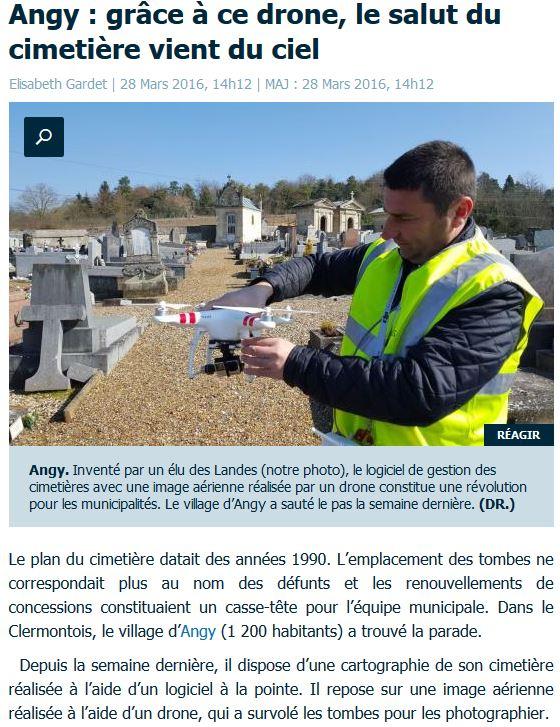 Article Le Parisien Logiciel cimetière