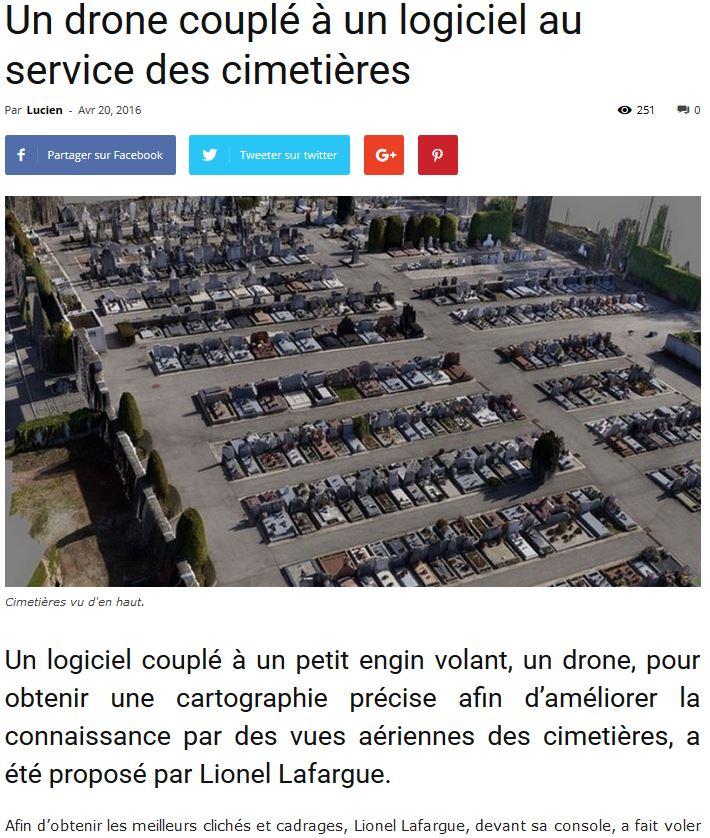 Article Funéraire Info Logiciel gestion du cimetière