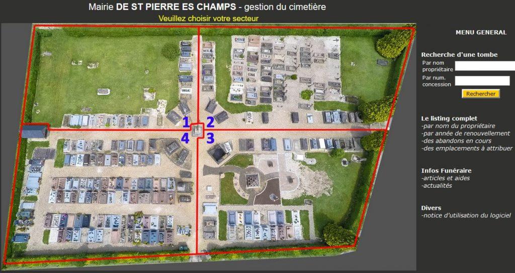 Gestion cimetière St-Pierre-es-Champs