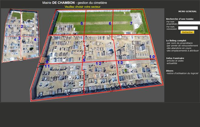 Gestion cimetiere 600 emplacements