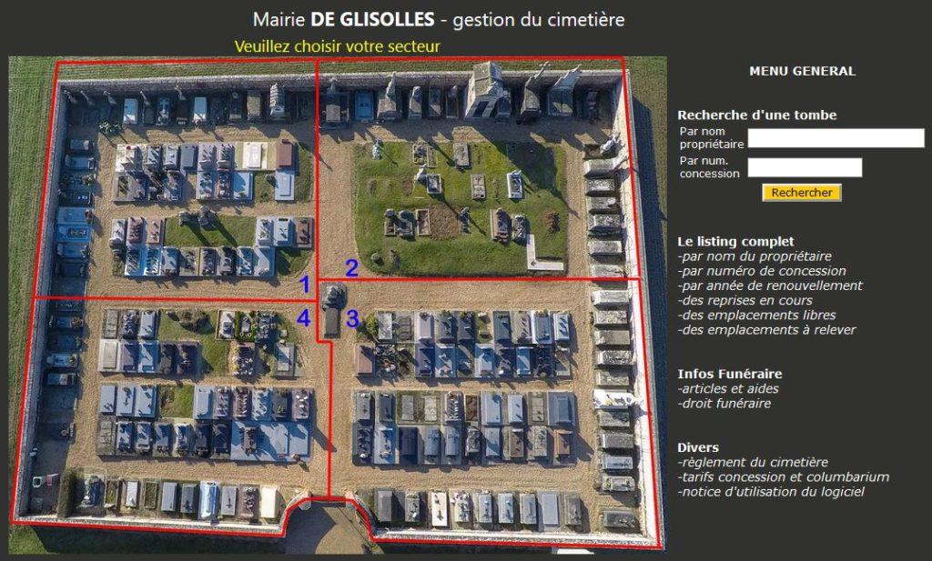Gestion cimetière dans departement de l'Eure