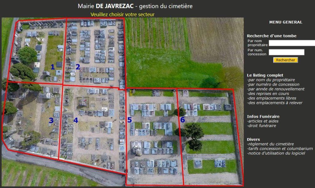 Gestion cimetière dans departement Charente