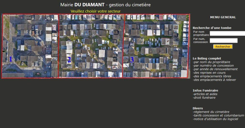 Logiciel gestion cimetière dans departement Martinique