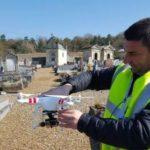 Cartographie du cimetière par drone