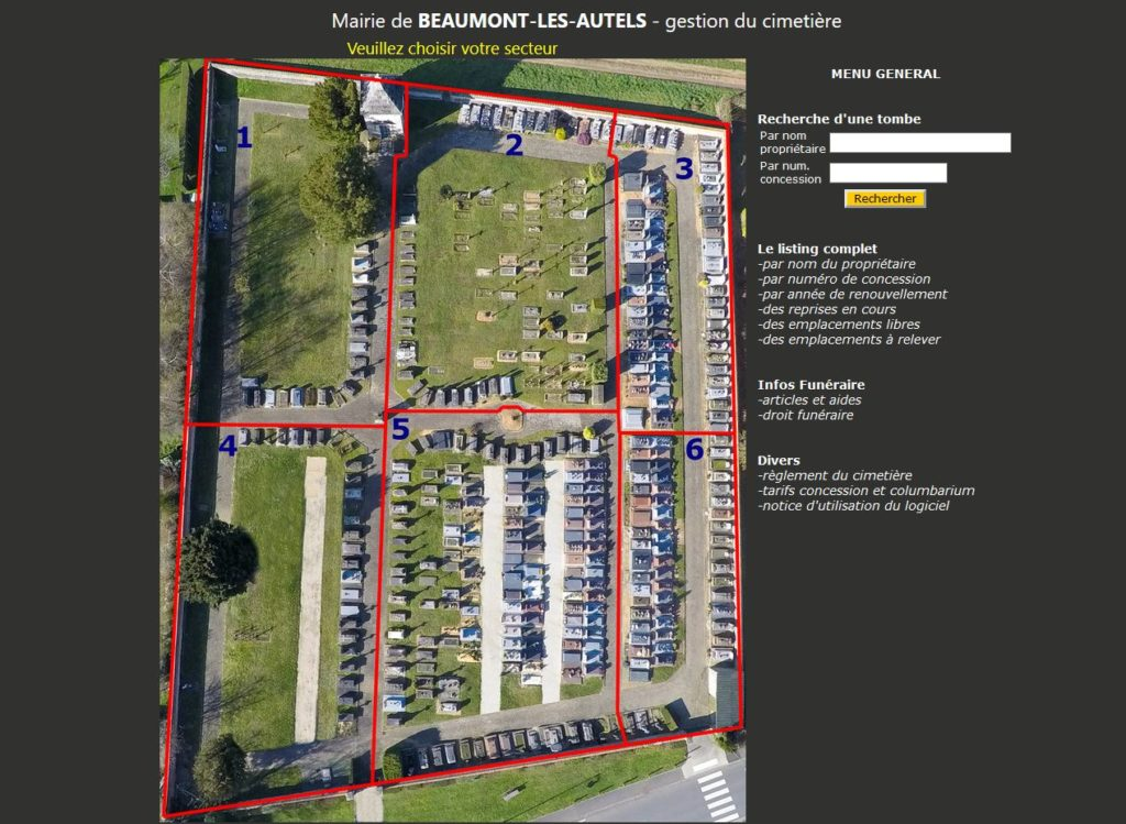 Gestion du cimetière Beaumont-les-Autels