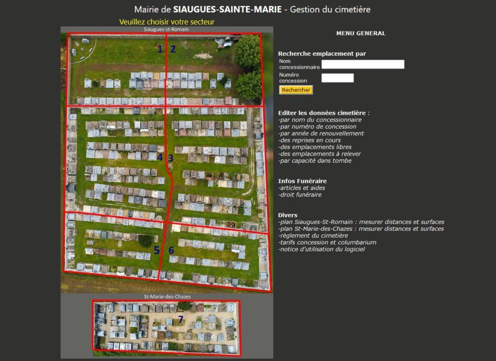 Gestion informatique des cimetières et Columbariums Haute Loire