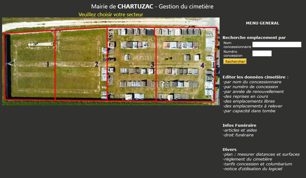 Gestion informatique des cimetières et Columbariums Charente Maritime